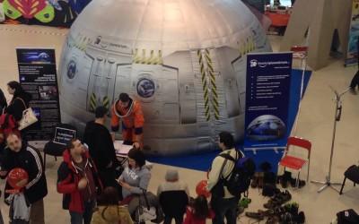Mobilní planetárium na výstavě PRO MODEL Flora Olomouc březen 2015